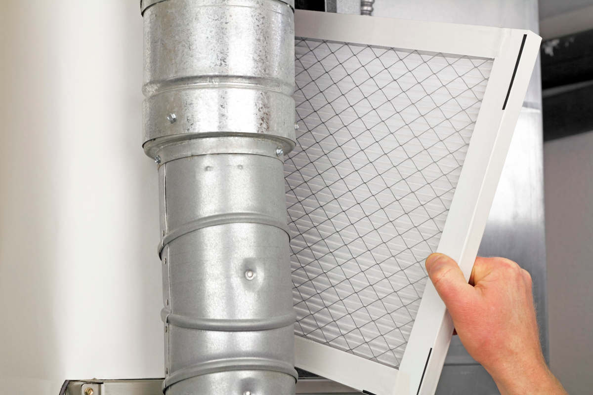Installing a furnace filter takes very little time and can be accomplished by a homeowner